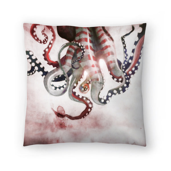Sea Monster 2 by Sam Nagel Decorative Pillow