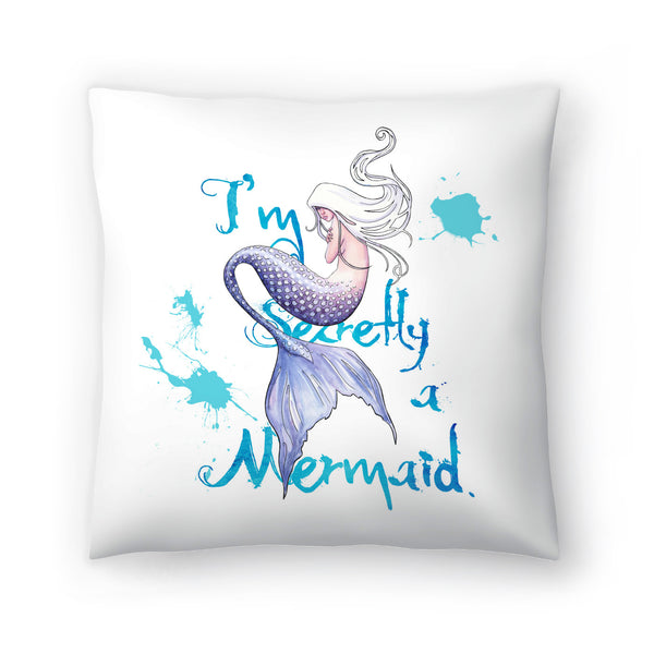 Secretly A Mermaid by Sam Nagel Decorative Pillow