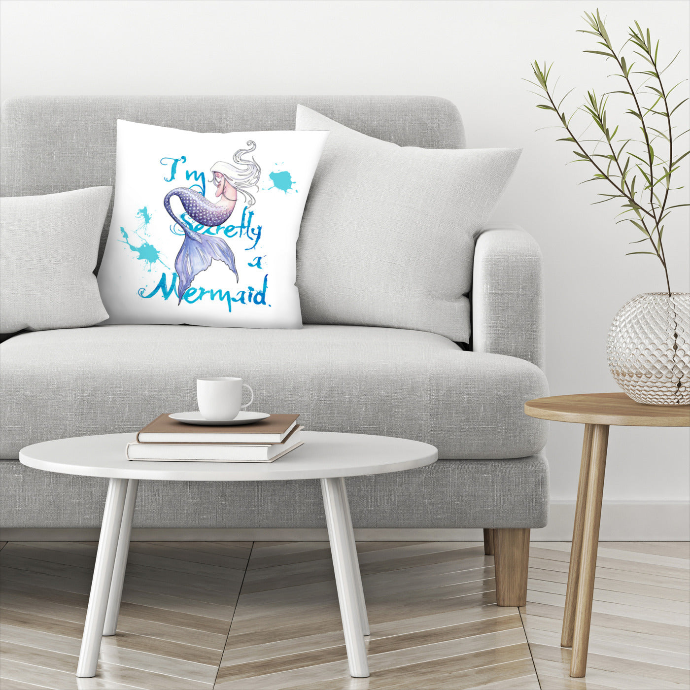 Secretly A Mermaid by Sam Nagel Decorative Pillow - Decorative Pillow - Americanflat