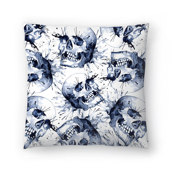 Skull Pattern by Sam Nagel Decorative Pillow