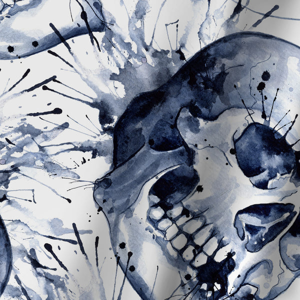 Skull Pattern by Sam Nagel Shower Curtain