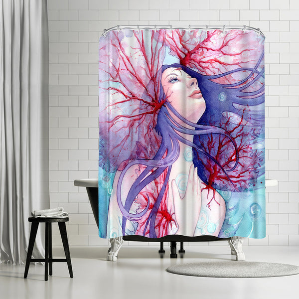 Soul Of The Siren by Sam Nagel Shower Curtain