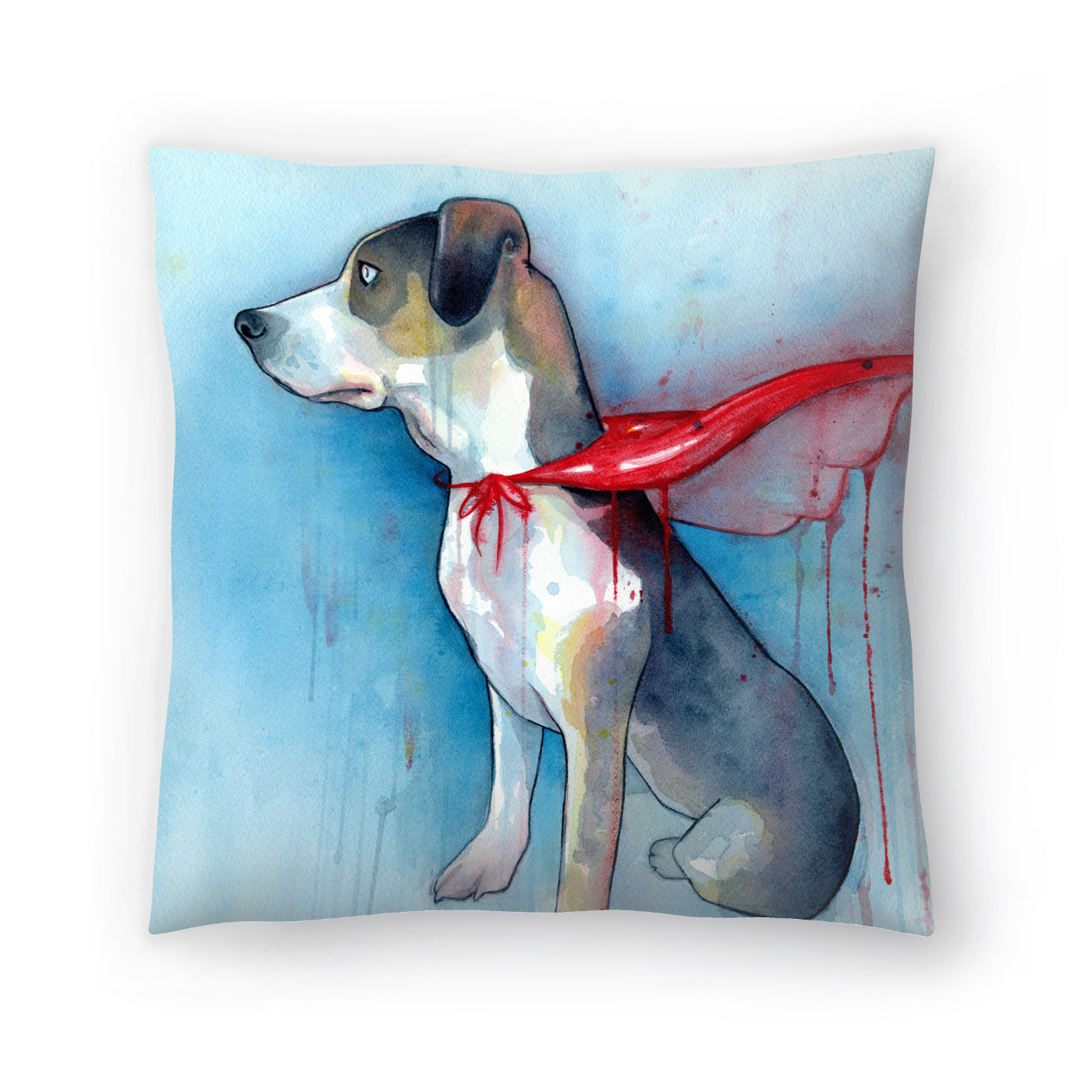 Super Dog by Sam Nagel Decorative Pillow - Decorative Pillow - Americanflat