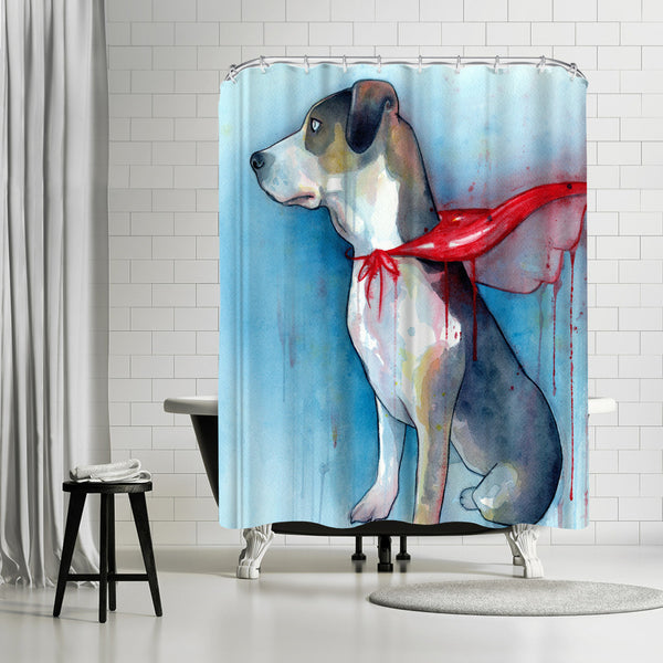 Super Dog by Sam Nagel Shower Curtain