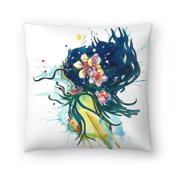 Water Nymph by Sam Nagel Decorative Pillow