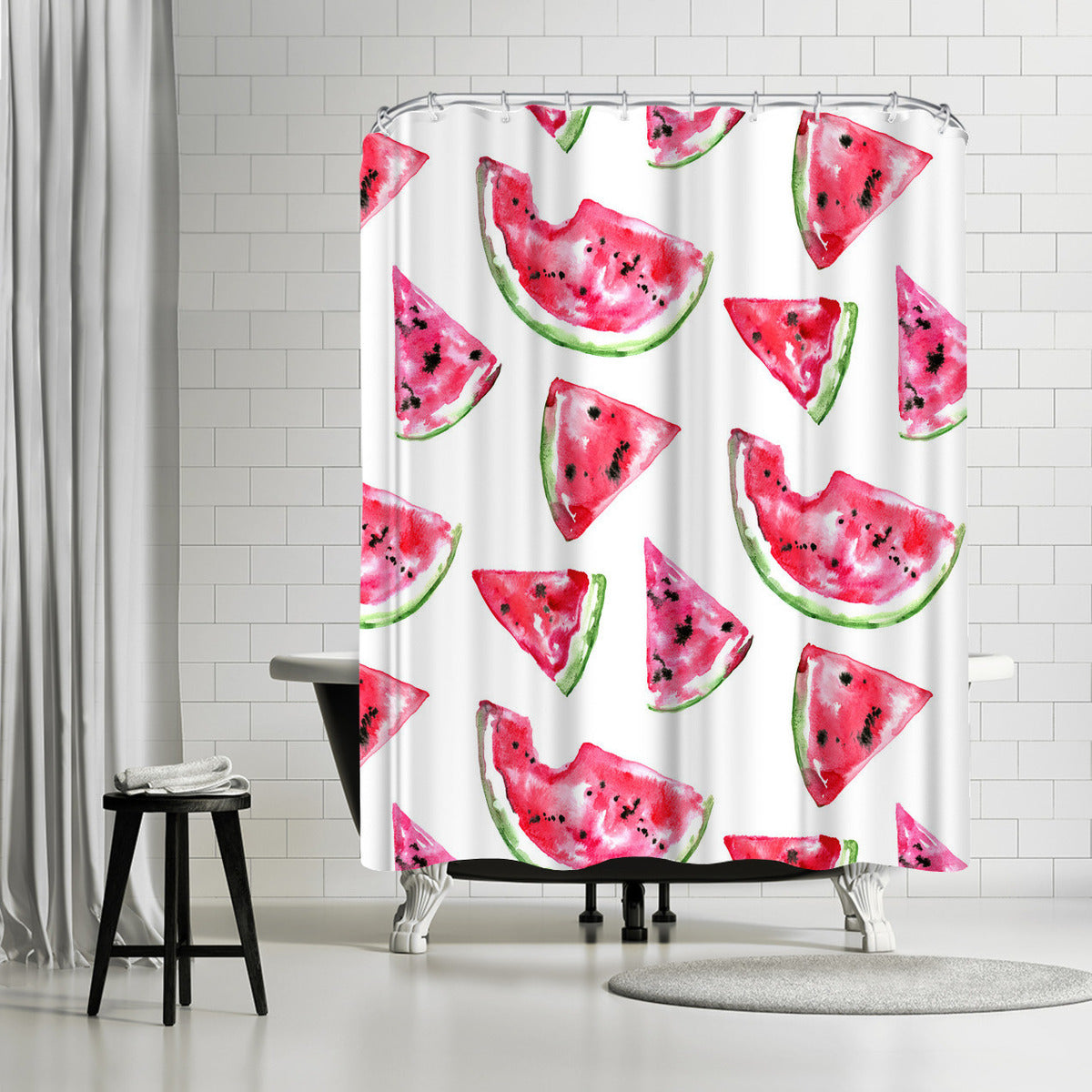Watermelon Slice by Sam Nagel Shower Curtain -  - Americanflat