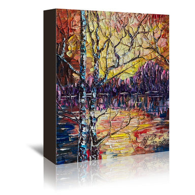 A Beautiful Sunset That Was Mistaken For A Dawn by OLena Art Wrapped Canvas - Wrapped Canvas - Americanflat