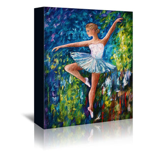 Celebrating Spring by OLena Art Wrapped Canvas