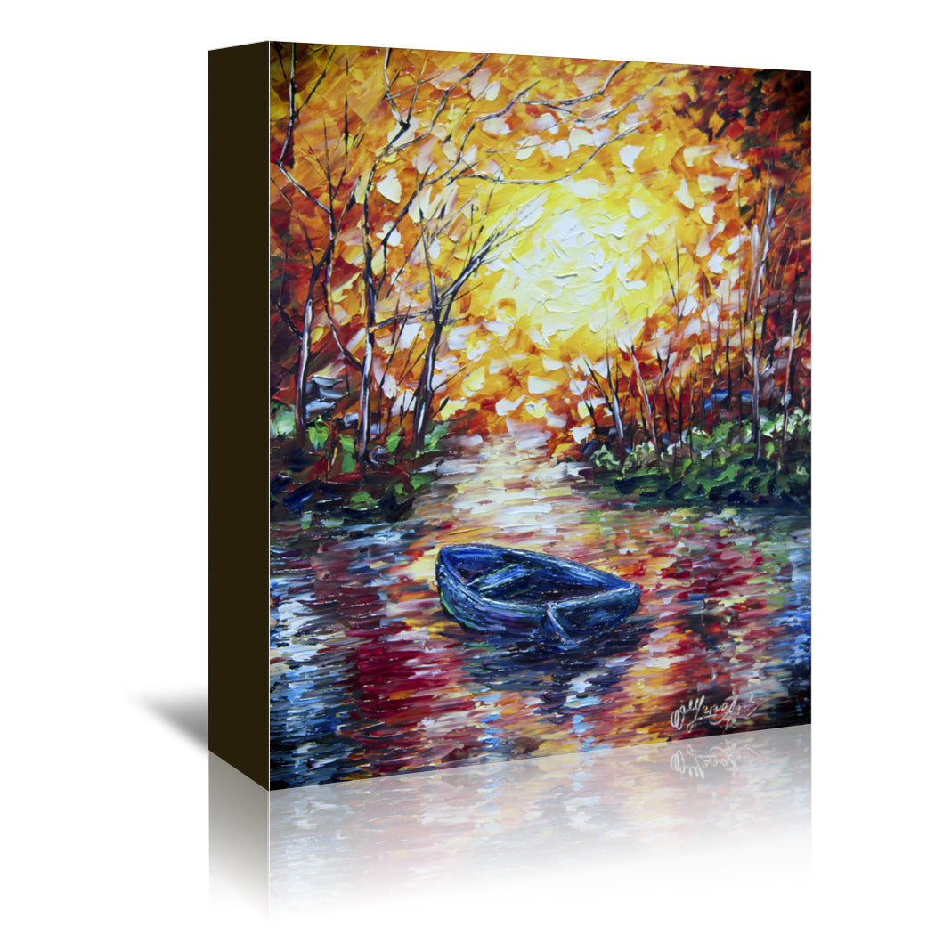 Impression  Sunset by OLena Art Wrapped Canvas - Wrapped Canvas - Americanflat