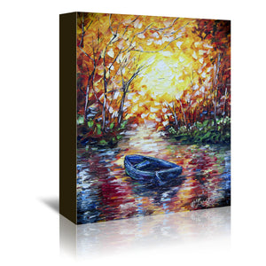 Impression  Sunset by OLena Art Wrapped Canvas