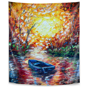 Impression Sunset by Olena Art Tapestry