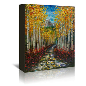 Nelly Creek by OLena Art Wrapped Canvas