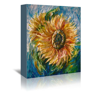 Sunflower by OLena Art Wrapped Canvas