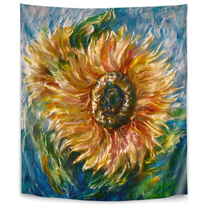 Sunflower by Olena Art Tapestry