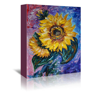 That Sunflower From The Sunflower State by OLena Art Wrapped Canvas