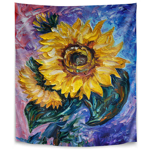 That Sunflower From The Sunflower State by Olena Art Tapestry