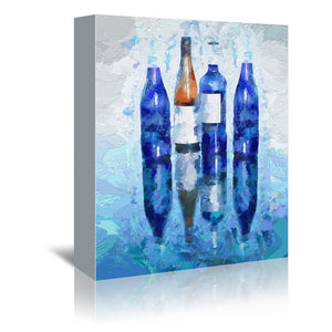 Wine Reflection by OLena Art Wrapped Canvas