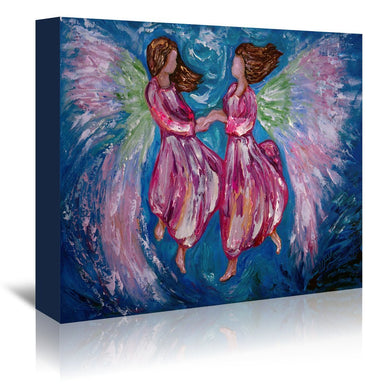 Angelic Dance by OLena Art Wrapped Canvas - Wrapped Canvas - Americanflat