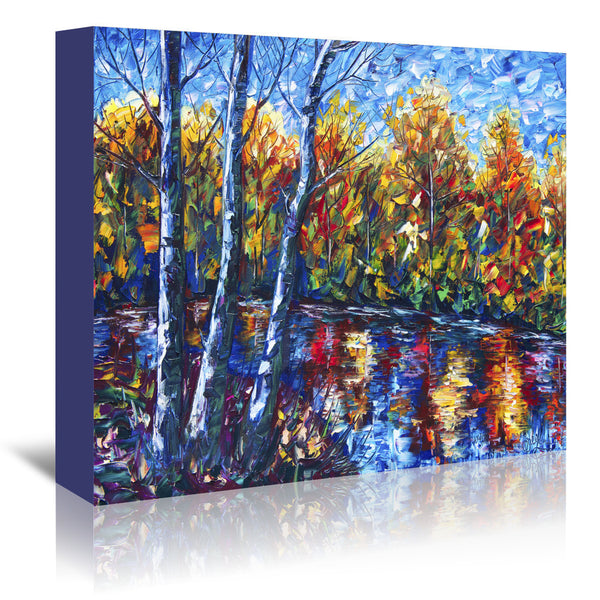 Dreaming Forest by OLena Art Wrapped Canvas