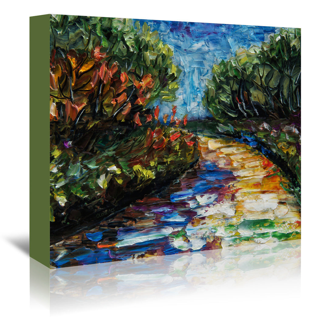Landscape by OLena Art Wrapped Canvas - Wrapped Canvas - Americanflat