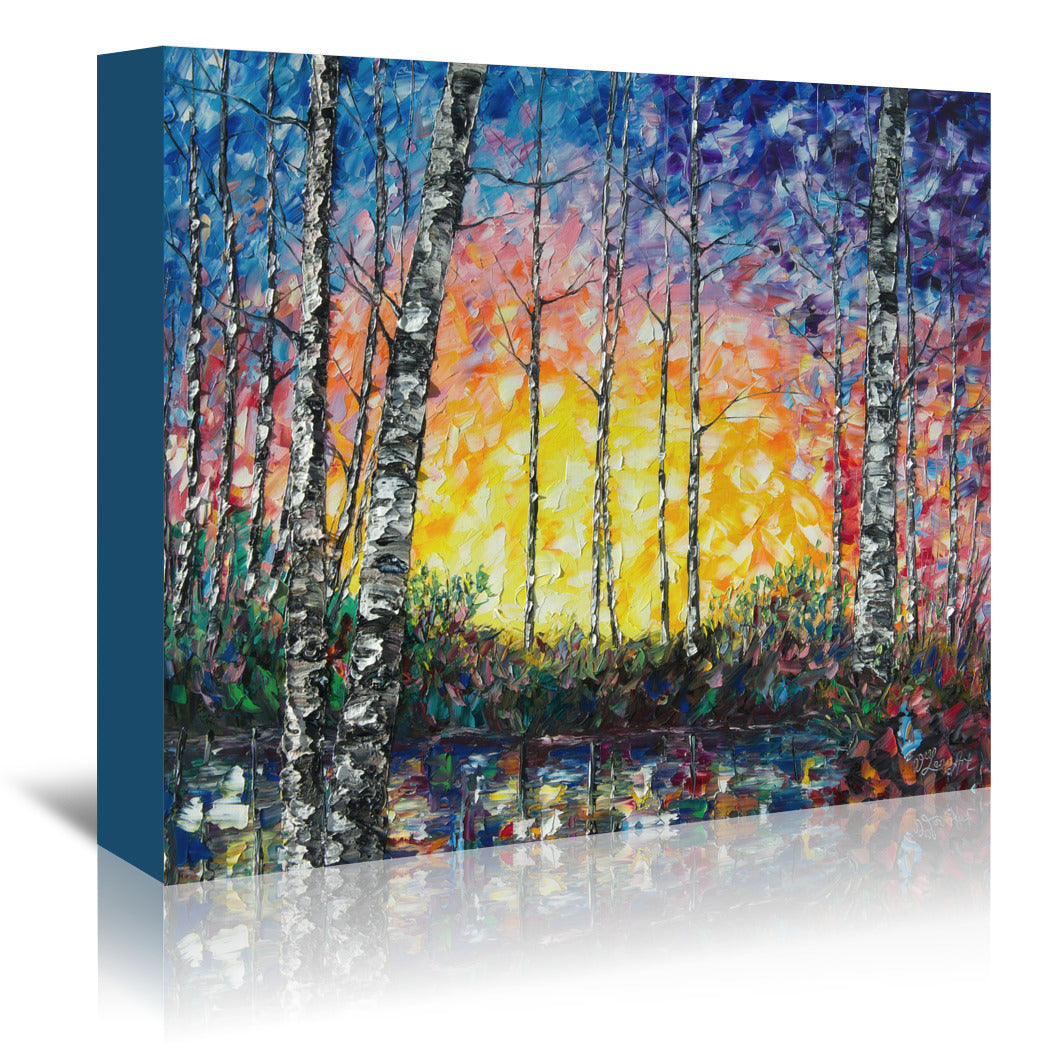 Morning Breaks by OLena Art Wrapped Canvas - Wrapped Canvas - Americanflat