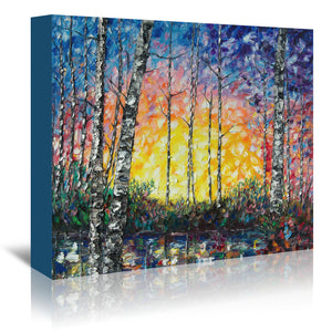 Morning Breaks by OLena Art Wrapped Canvas