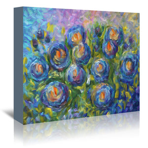 Roses Are Blue by OLena Art Wrapped Canvas