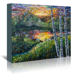 Sleeping Meadow by OLena Art Wrapped Canvas