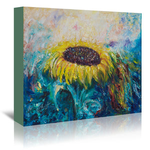 Sunny Flower by OLena Art Wrapped Canvas
