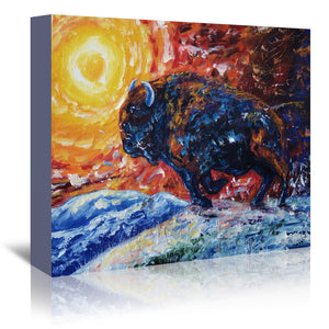 Wild The Storm by OLena Art Wrapped Canvas