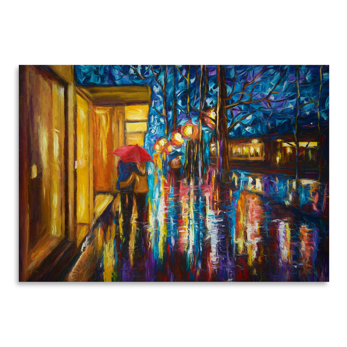 Love In The Rain by OLena Art Print - Art Print - Americanflat