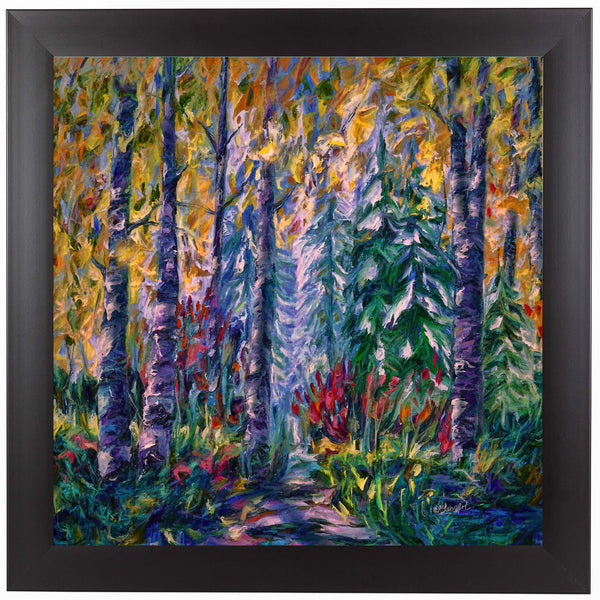 Deep In The Woods by OLena Art Framed Print