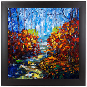 Misty Path by OLena Art Framed Print
