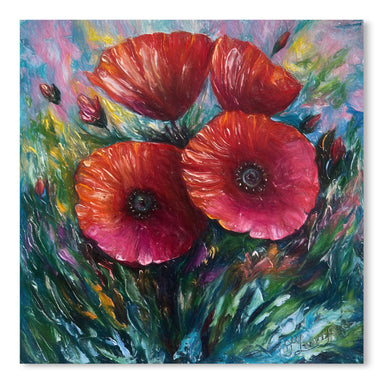 Red Poppies by OLena Art  Print - Art Print - Americanflat