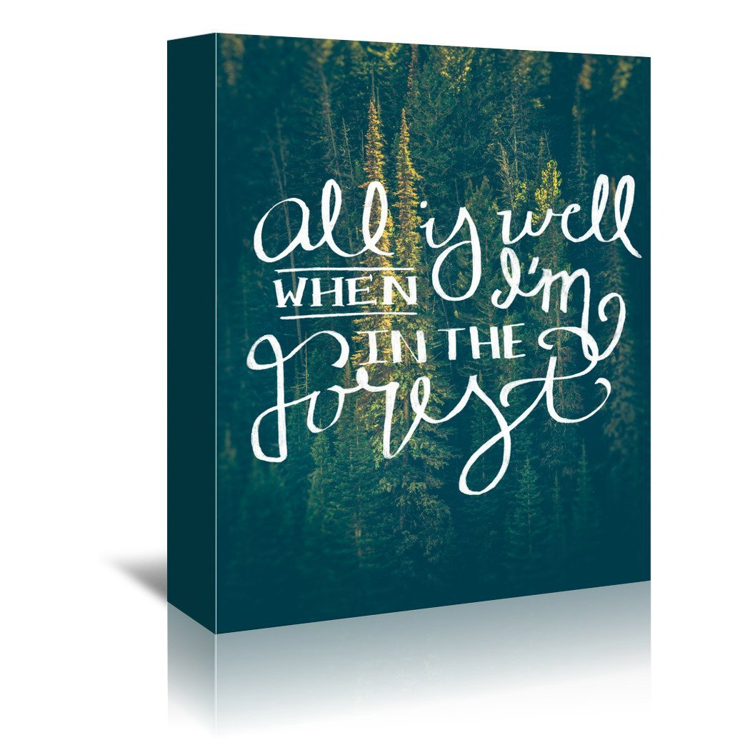 All Is Well by Annie Bailey Wrapped Canvas - Wrapped Canvas - Americanflat