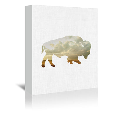 Bison And Plains by Annie Bailey Wrapped Canvas - Wrapped Canvas - Americanflat