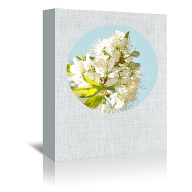 Blossoms And Blue by Annie Bailey Wrapped Canvas - Wrapped Canvas - Americanflat