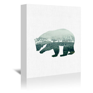 Brown Bear by Annie Bailey Wrapped Canvas - Wrapped Canvas - Americanflat
