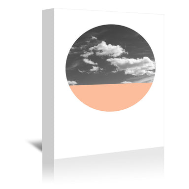 Cloudscape And Coral by Annie Bailey Wrapped Canvas - Wrapped Canvas - Americanflat