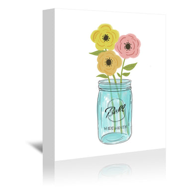 Country Flowers by Annie Bailey Wrapped Canvas - Wrapped Canvas - Americanflat