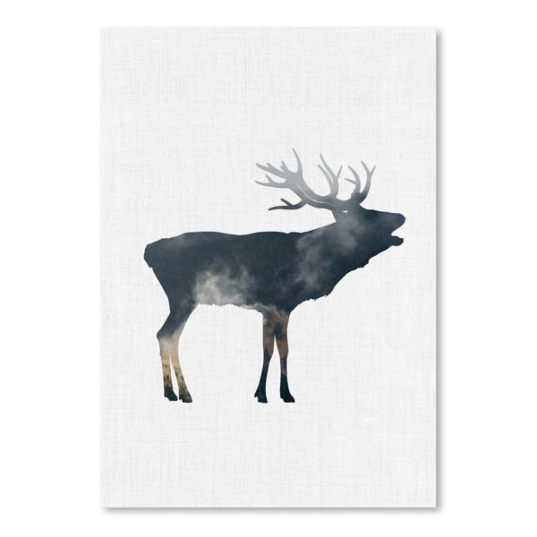 Elk And Forest by Annie Bailey Art Print