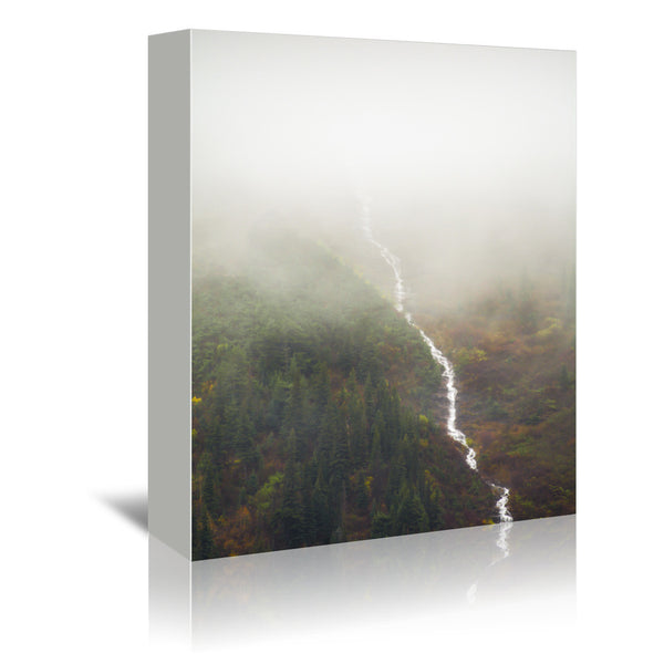 Flowing Through The Fog by Annie Bailey Wrapped Canvas