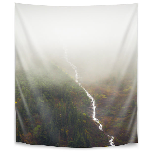 Flowing Through The Fog by Annie Bailey Tapestry