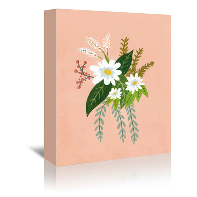 Folk Art Flowers No 1 by Annie Bailey Wrapped Canvas - Wrapped Canvas - Americanflat
