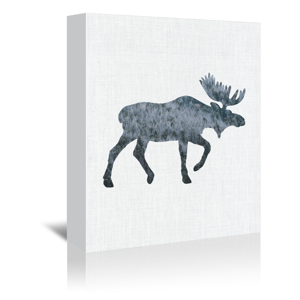 Moose by Annie Bailey Wrapped Canvas - Wrapped Canvas - Americanflat