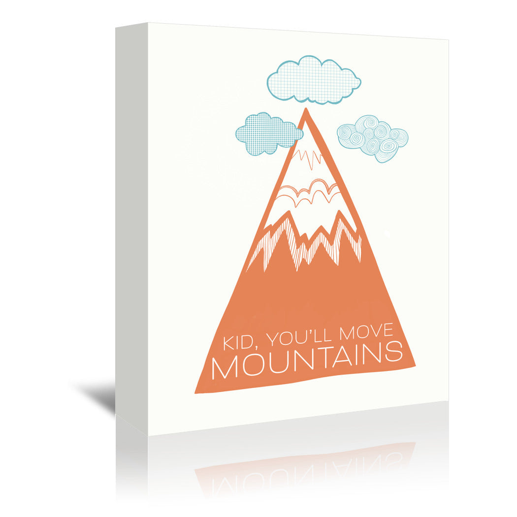 Move Mountains by Annie Bailey Wrapped Canvas - Wrapped Canvas - Americanflat