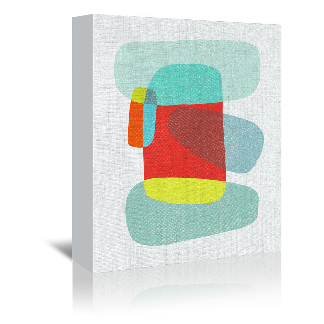Abstract Pods by Annie Bailey - 3 Piece Wrapped Canvas Set - Wrapped Canvas - Americanflat