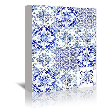 Azulejos Mix by Ingrid Beddoes Wrapped Canvas - Wrapped Canvas - Americanflat