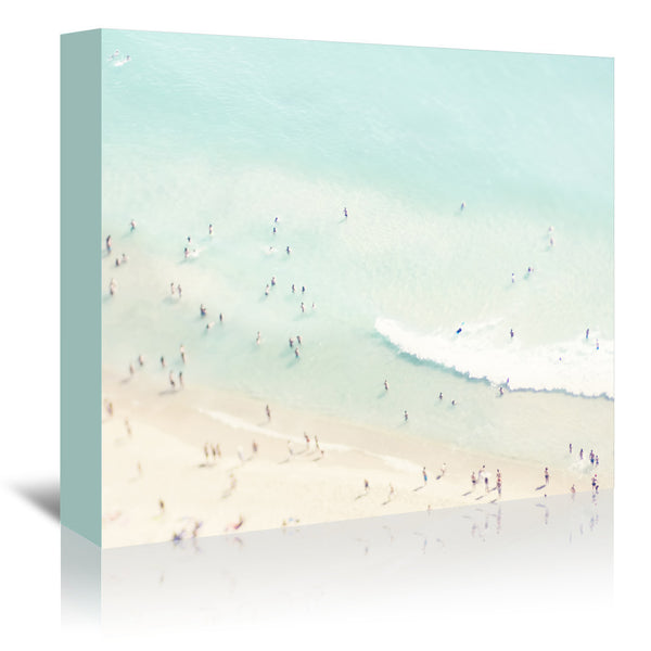Beach Love Iii by Ingrid Beddoes Wrapped Canvas