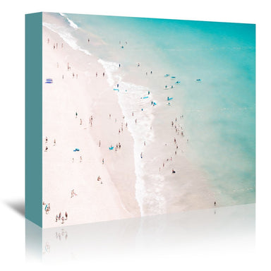 Beach Summer Love by Ingrid Beddoes Wrapped Canvas - Wrapped Canvas - Americanflat
